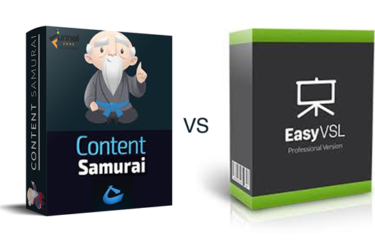Content Samurai 3D Cover and EasyVSL 3D cover